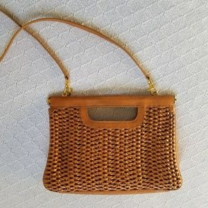 Etienne Aigner Woven Leather Crossbody Bag